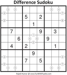 Difference Sudoku Puzzle (Daily Sudoku League #212) League Of Extraordinary, Magic Squares, Sudoku Puzzles, Train Your Brain, Free Books Online, Brain Teasers, Riddles, Mathematics, Math