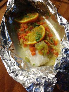Filets de limande et sa fricassé de légumes à l'orange