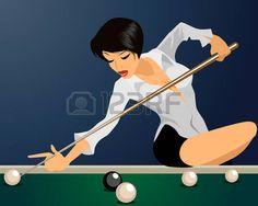 Billiards stock photos and royalty-free images, vectors and illustrations Dark Fantasy Art, Pin Up Art, Erotic Art, Royalty Free Photos, Illustration, Latex, Clip Art, Stock Photos, Anime