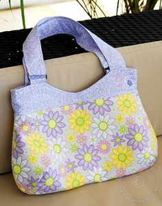 """Make your own """"boob bag"""" with picture instructions and free pattern."""