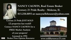 W/E 11-26-16 JUST SOLD at #Century21Pride call/text 815-258-8893, visit: www.soldbynancyc21.com