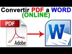 Como Convertir PDF a WORD (Online) PASO a PASO - Tutorial CHVERE - YouTube