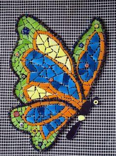 modern mosaic butterfly