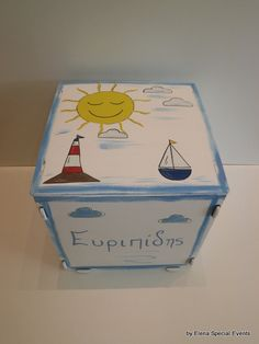 www.artimiva.gr Wooden Toy Boxes, Wooden Toys, Different Shapes, Special Events, Decorative Boxes, Hand Painted, Home Decor, Wood Toys, Homemade Home Decor