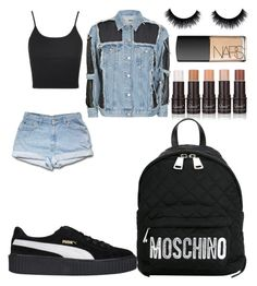 """""""2 cute summer looks"""" by madisonkiss on Polyvore featuring Topshop, Puma, NARS Cosmetics and Moschino"""