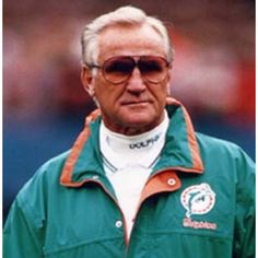 Don Shula - coached the Miami Dolphins to wins in Super Bowls VII and VIII. The win in Super Bowl VII completed a perfect record season). Nfl Coaches, Nfl Football Players, Sports Teams, 1972 Miami Dolphins, Nfl Dolphins, Orlando, Sports Photos, National Football League, American Football