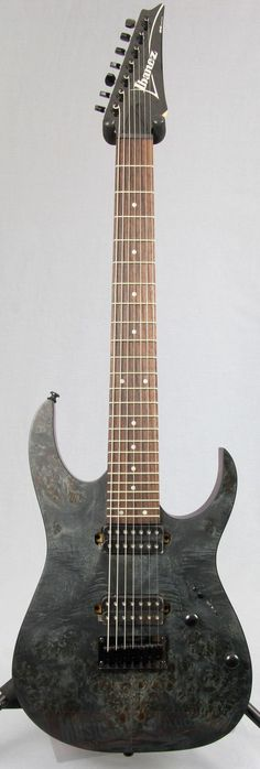 The RG 7 String Available With A Poplar Burl Top The RG is the most recognizable and distinctive guitar in the Ibanez line. Three decades of metal have forged this high-performance machine, honing it #ibanezguitars