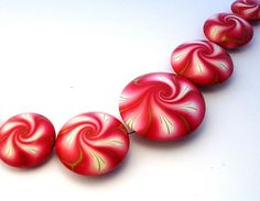 Red Swirl Beads by ToniNZ, via Flickr
