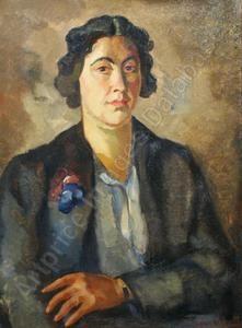Portret van mevrouw Cerfontaine, 1939, Edmond BELLEFROID