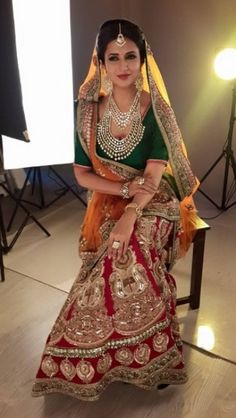 Love this Red gold bridal lehenga. Looking for the perfect blouse design for your lehenga to take inspiration from bollywood Celebrity? Indian Bridal Lehenga, Red Lehenga, Indian Bridal Wear, Indian Wedding Outfits, Bridal Outfits, Lehenga Choli, Bridal Dresses, Wedding Dress, Indian Wear