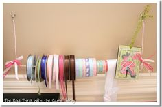 Wire and Dowel Rod Ribbon Holder (DIY & Tutorial): The Real Thing with the Coake Family #DIY #craft