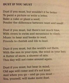 Dust if you must... #quote
