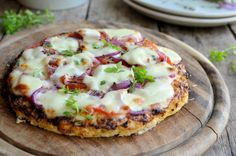 Low-Calorie Cauliflower Crust Pizza: Trying this at the orphanage to see how it turns out.