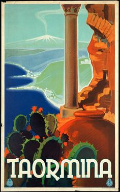 Taormina travel poster