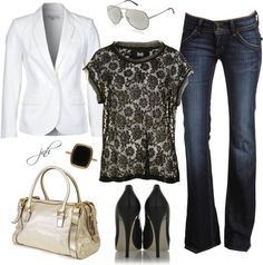 """""""D Lace and Tulle Top"""" by jill-hammel on Polyvore"""