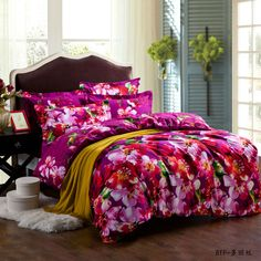 Yous Home Textiles!Pure cotton brushed bedding sets brand duvet cover flat sheet pillowcase/bedclothes/bed linnen/quilt cover $126.00 - 128.00