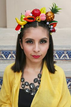 Fruits Flower Crown/ Headband inspired by Miss Chiquita and Carmen Miranda (Fruit, Mexican, Summer, Pineapple, Watermelon) by LoveCarolineO, $28.00