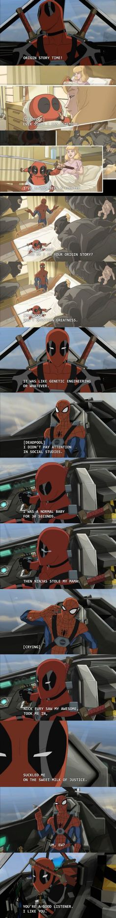 Deadpool Origin Story Time!  // funny pictures - funny photos - funny images - funny pics - funny quotes - #lol #humor #funnypictures:
