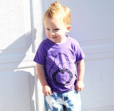 Purple Sasquatch Tee for boys and girls by Wee Monster.  www.weemonster.net