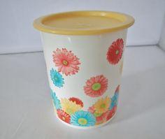Vintage Floral plastic container