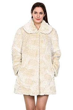 Adelaqueen Women's Trimmed Mink Faux Fur Strip & Block Style Lapel Coat - http://www.darrenblogs.com/2017/01/adelaqueen-womens-trimmed-mink-faux-fur-strip-block-style-lapel-coat/