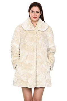 Adelaqueen Women's Trimmed Mink Faux Fur Strip & Block Style Lapel Coat - http://www.darrenblogs.com/2017/01/adelaqueen-womens-trimmed-mink-faux-fur-strip-block-style-lapel-coat/