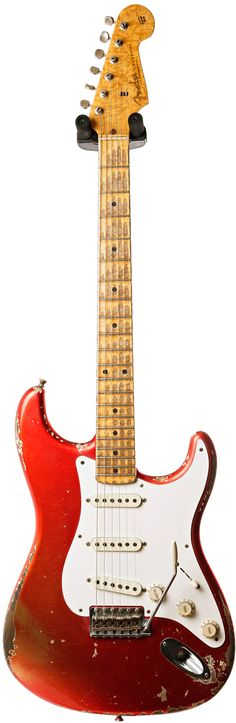 Buy the Fender Custom Shop Strat Relic Candy Apple Red to Melon Candy Masterbuilt by Dale Wilson and get free delivery. Shop with the UK's largest guitar dealer today. Stratocaster Guitar, Fender Guitars, Fender Custom Shop, Custom Guitars, Unique Guitars, Vintage Guitars, Vader Star Wars, Fender American, Candy Apple Red