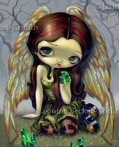 Fairy Art Prints Archives - Page 8 of 35 - Strangeling: The Art of Jasmine Becket-Griffith Fantasy Kunst, Fantasy Art, Amy Brown, Pink Brown, Kobold, Fairy Pictures, Gothic Fairy, Polychromos, Foto Art