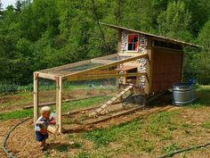 Homemade Chicken Coop with Beer Can Shingles Was Built in 10 Hours for $40