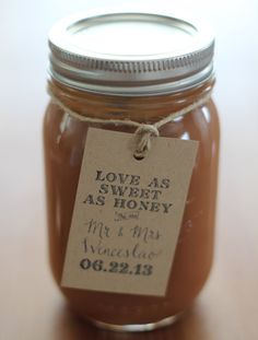 Love As Sweet As Honey Wedding Favor Tags Favor Vintage Wedding Custom Personalized Calligraphy Stamp for Honey Jars or Wedding Treats on Etsy, $43.50