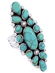 Sterling Silver Turquoise Southwest Ring Size 7-1/2 Jewelry DW72386 http://www.silvertribe.com