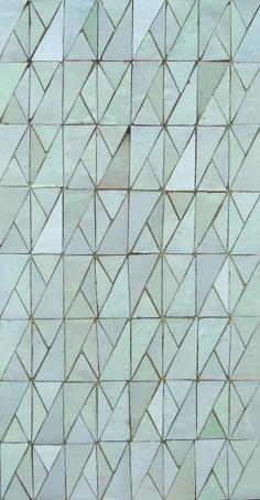 white trendy pattern, exclusive design by Ateliers Zelij
