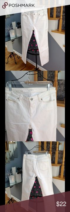 NWOT LOFT Jeans NWOT Loft off white jeans.  They are modern straight leg. Never worn! LOFT Jeans Straight Leg