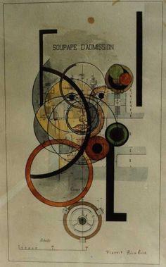 1917 - Induction Valve (Soupape d'admission) by Francis Picabia