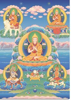 Las cinco visiones que Khedrubyhe tuvo de Yhe Tsongkhapa. Tharpa.