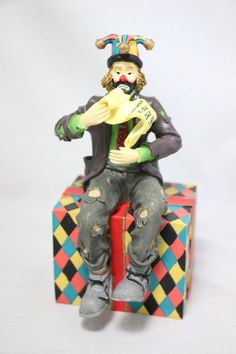 1999 Emmett Kelly Jr Welcomes You to Collectors Society Flambro in Original Box