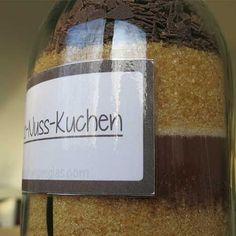 Schoko-Nuss Kuchen im Glas