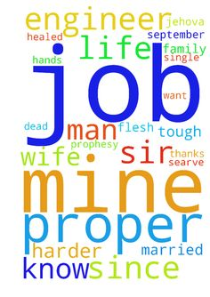 1) I am a mine engineer with no proper - 1 I am a mine engineer with no proper job since I graduated in 2013, man of God pray for me that I find a good permanent job. 1 my mother has a strange disease where her hands, legs and head produce some black tough stuff like dead flesh since 2010. Please man of God pray that she gets healed too 3 I married on 11 September 2016 this year, and me and my wife have been praying for better life but every single day, life keeps getting harder and harder…
