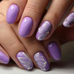 Nail art Christmas - the festive spirit on the nails. Over 70 creative ideas and tutorials - My Nails Purple Nail Art, Purple Nail Designs, Fall Nail Designs, Purple Wedding Nails, Acrylic Nail Art, Acrylic Nail Designs, Stylish Nails, Trendy Nails, Violet Nails