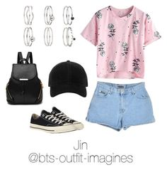 """Traveling in Texas with Jin"" by bts-outfit-imagines ❤ liked on Polyvore featuring Converse, rag & bone and Miss Selfridge"