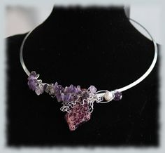 Artsy purple semiprecious gemstone necklace by thoughtsdesigner, $80.00
