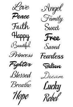 Script Temporary Tattoo Set - tattoos ♥ - Tattoo Designs for Women Wörter Tattoos, Wolf Tattoos, Trendy Tattoos, Cute Tattoos, Temporary Tattoos, Body Art Tattoos, Sleeve Tattoos, Arabic Tattoos, Belly Tattoos