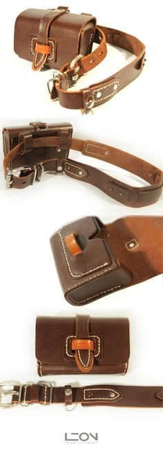 Leather Belt with Pouch Bag by Leon Litinsky.