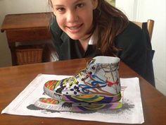 @Joan Martin  Grade 8 #sneaker drawing using #colAR mix app