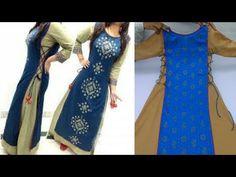 ऐसी Designer Dress बनाकर पहन ली तो खुद को देखकर दंग रह जाओगे। Latest Designer Dress Kurti - YouTube