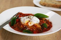 Ratatouille stew with poached egg by Jorth!, via Flickr