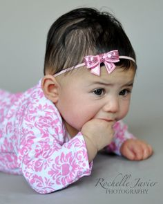 Light pink sparkle bow headbandBaby by DanicasChicBowtique on Etsy, $7.50