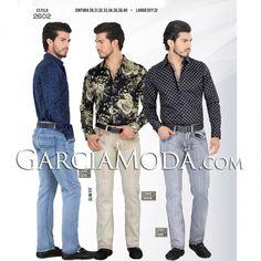 Pantalón Vaquero Lamasini Jeans 2602 Azul, Arena y Gris