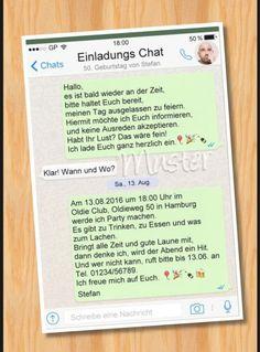 Einladungen Geburtstag Vorlagen Whatsapp