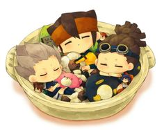 Inazuma eleven - Axel,  Mark and Jude chibi